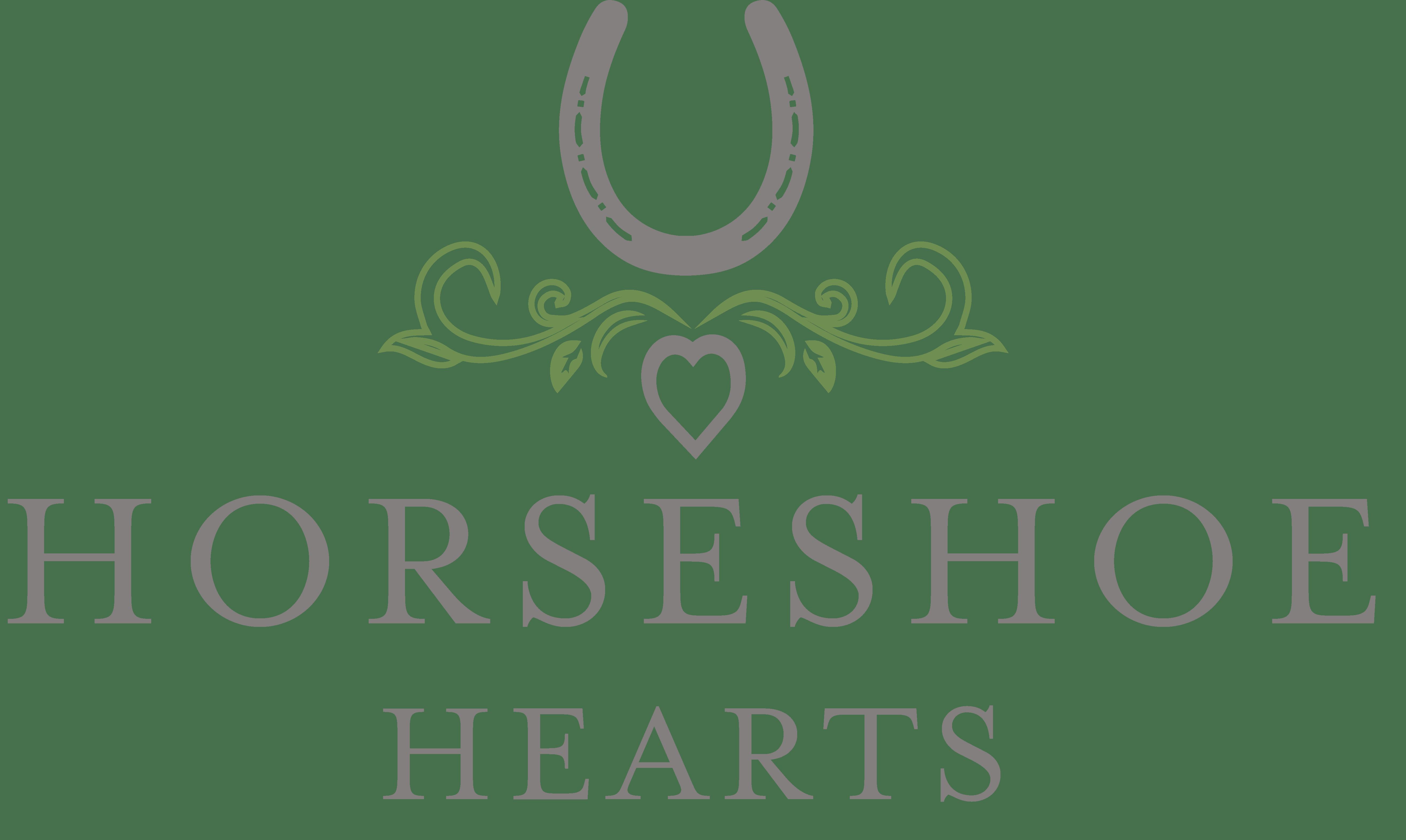 equestrian logo design horseshoe hearts