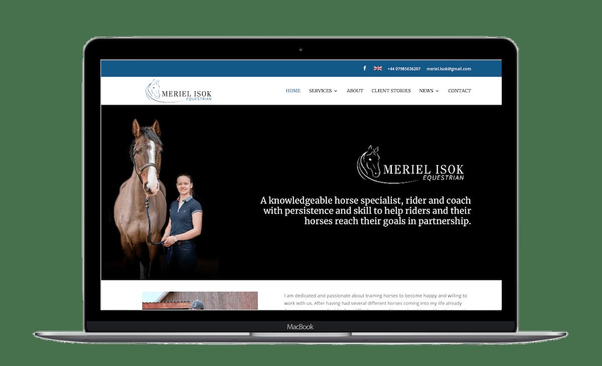 equestrian website design
