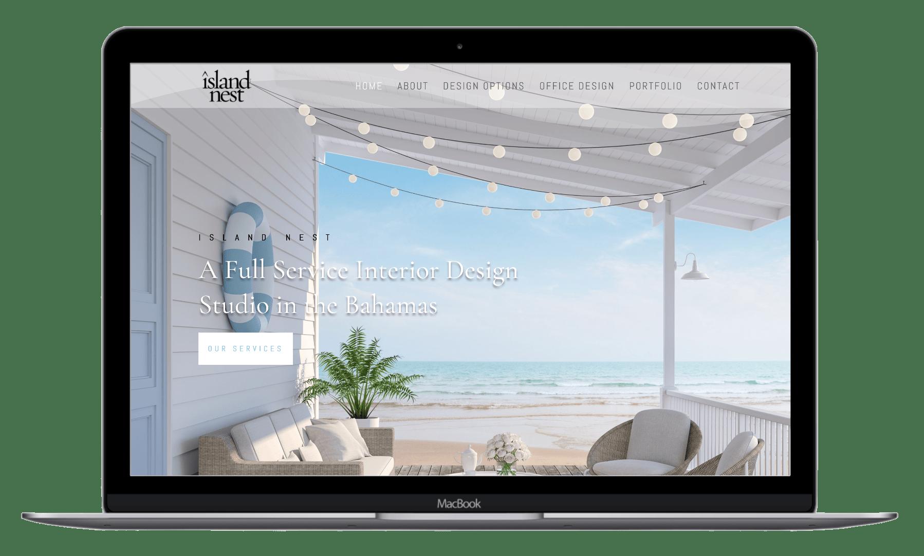 Island nest website design