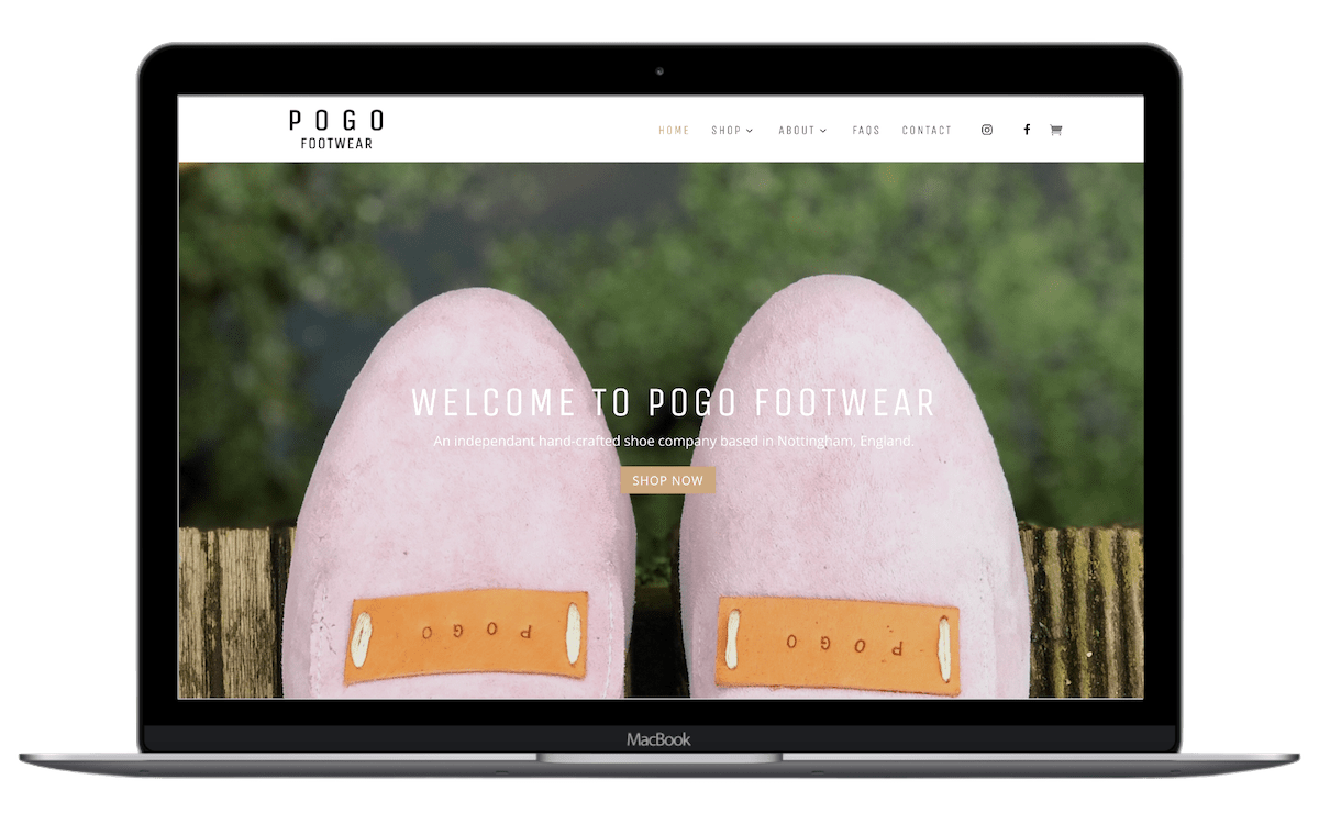 footwear rural website design