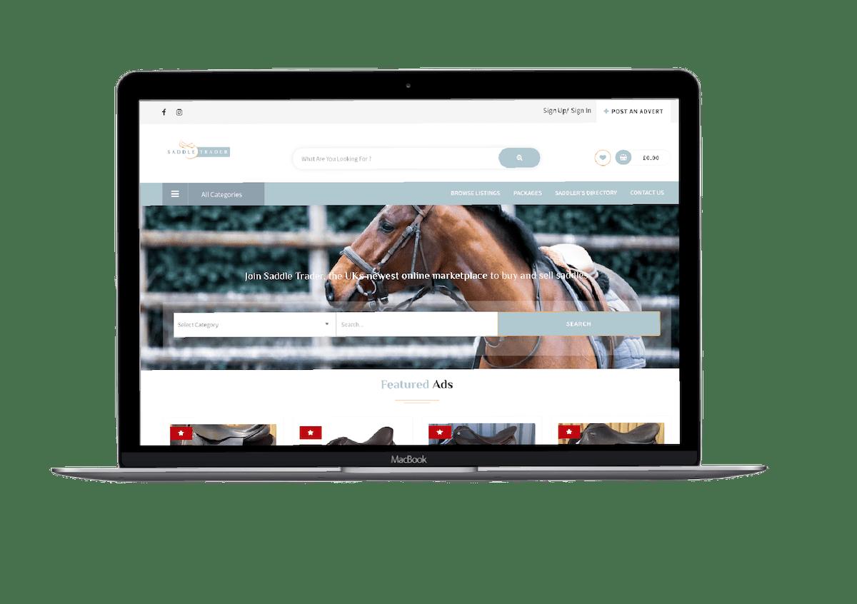 saddle trader equine website design