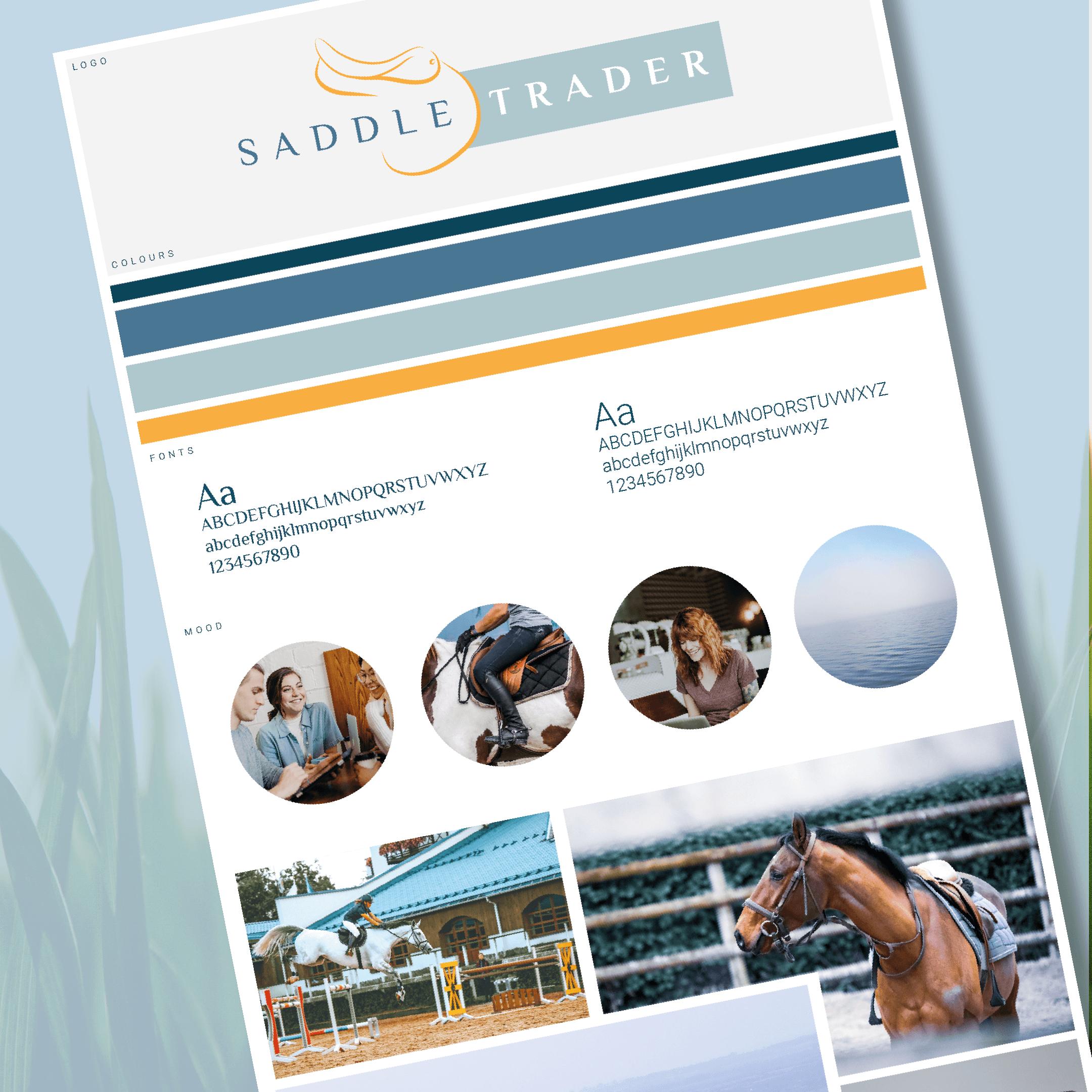 saddle trader mood board branding