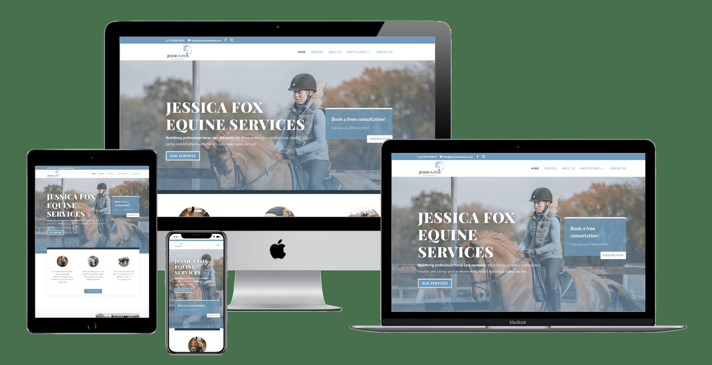 Jessica Fox equine services website design