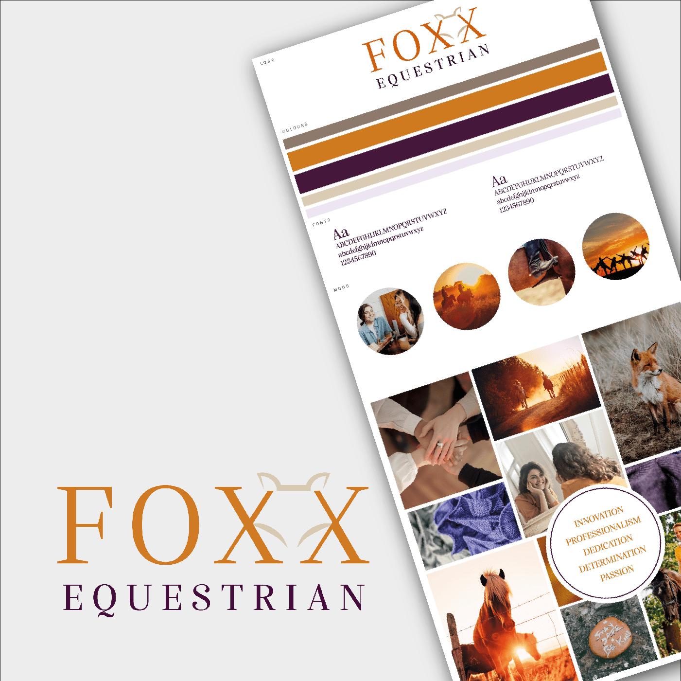 Foxx equestrian branding logo design
