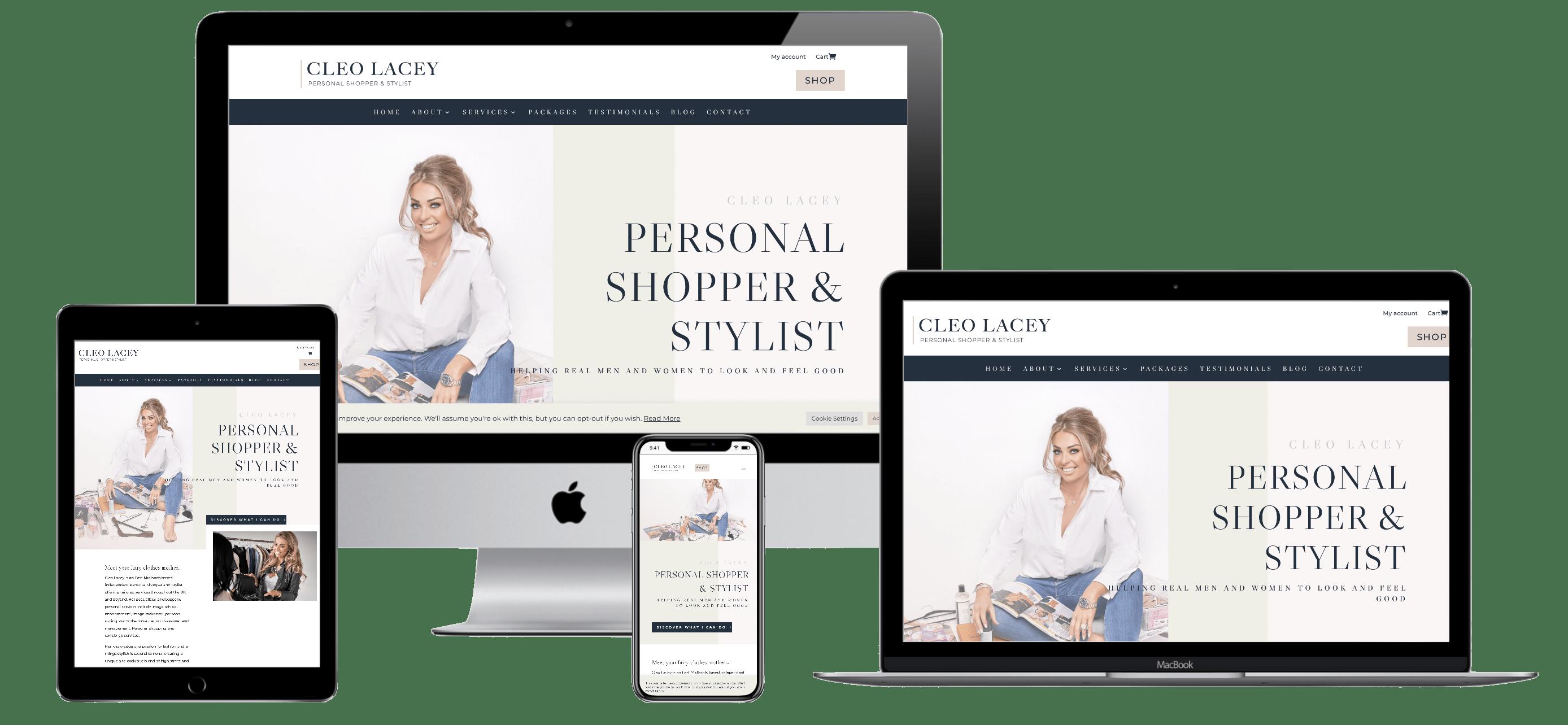 Cleo Lacey website design